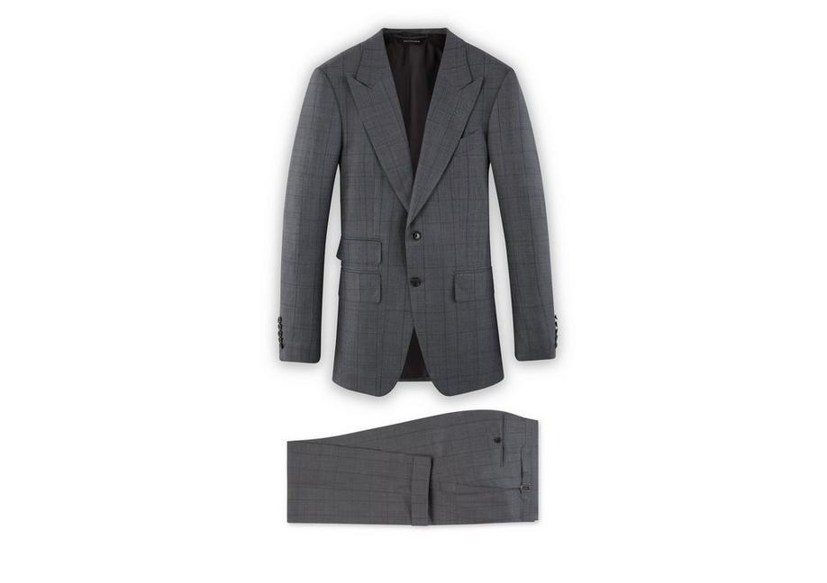 Tom Ford Grey Cashmere Silk Shelton Jacket