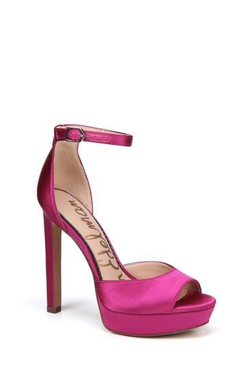 0de8c71d409210 Sam Edelman Wallace Platform Sandal In Berry Satin
