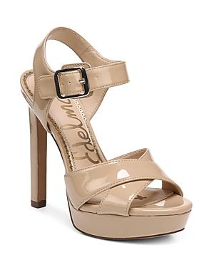 af4bc57b3b8 Sam Edelman Women s Willa Patent Leather Platform High-Heel Sandals In Nude  Patent Leather