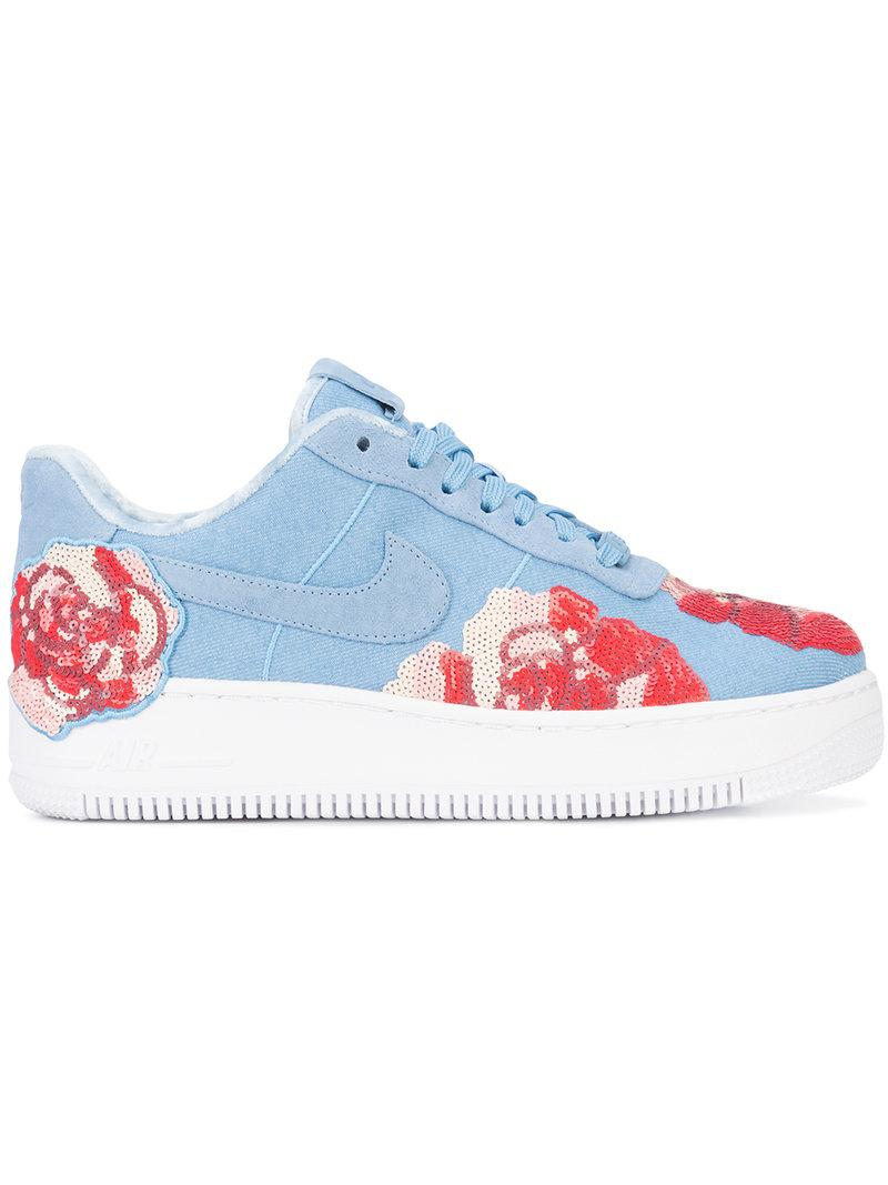 Nike Lab Air Force 1 Upstep Lx Sneakers | ModeSens