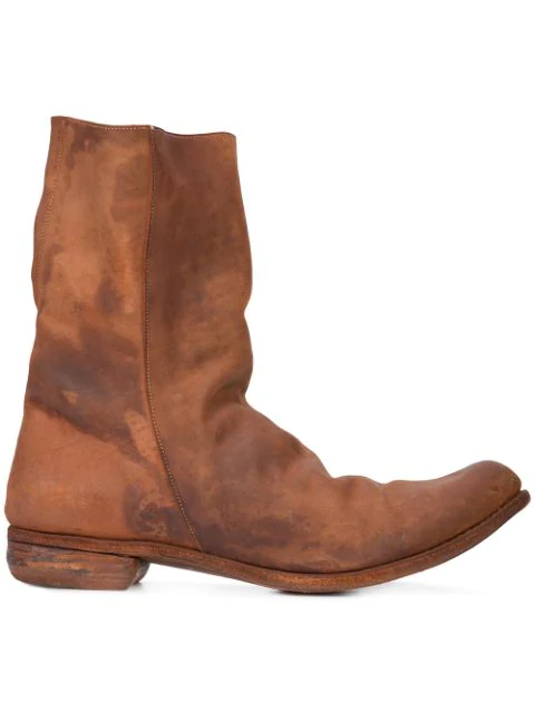 A Diciannoveventitre Relaxed Distressed Boots In Borng