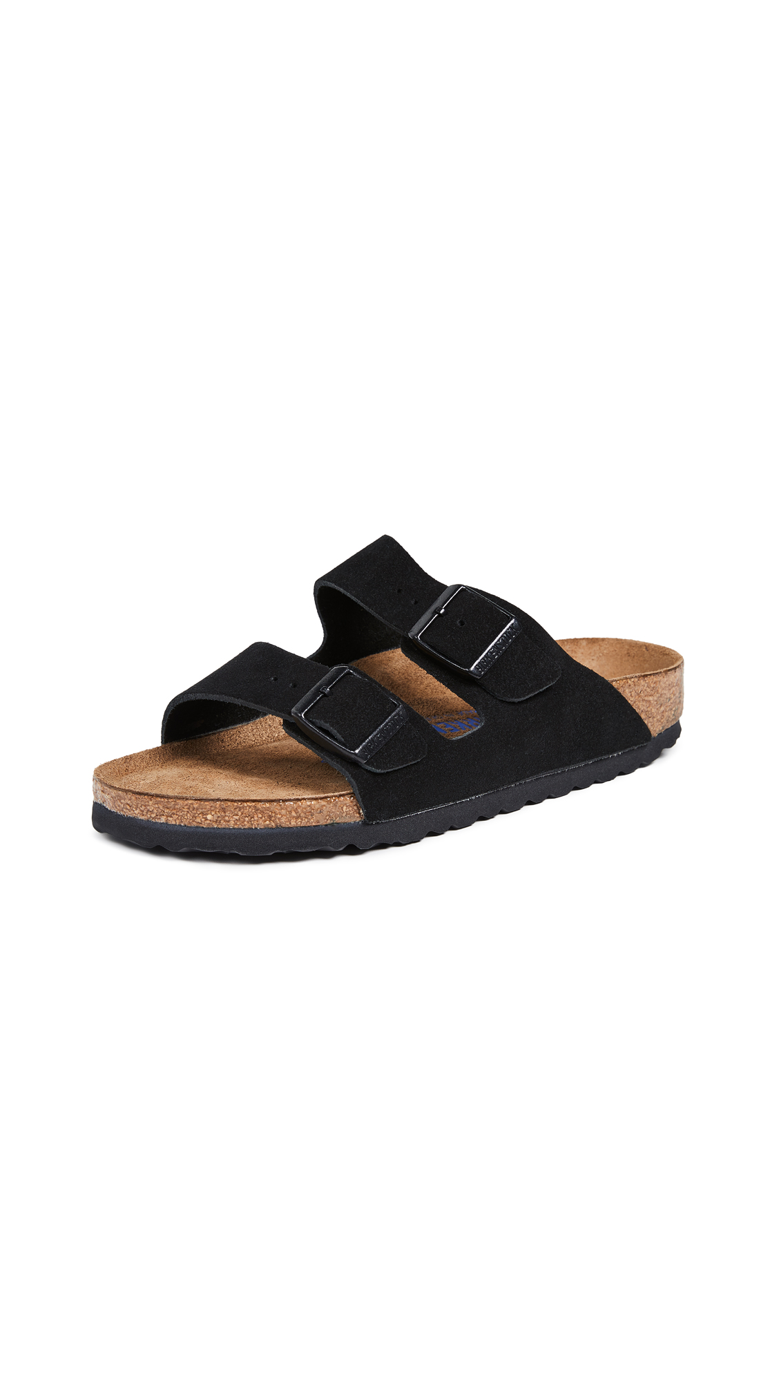 529847759 Birkenstock  Arizona  Soft Footbed Suede Sandal (Women) In Black ...