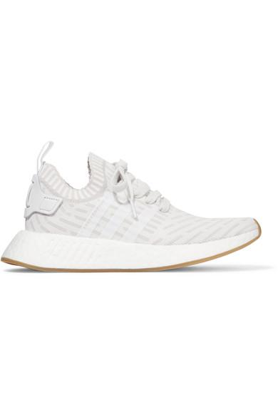e88a53715 Adidas Originals Nmd R2 Leather-Trimmed Primeknit Sneakers