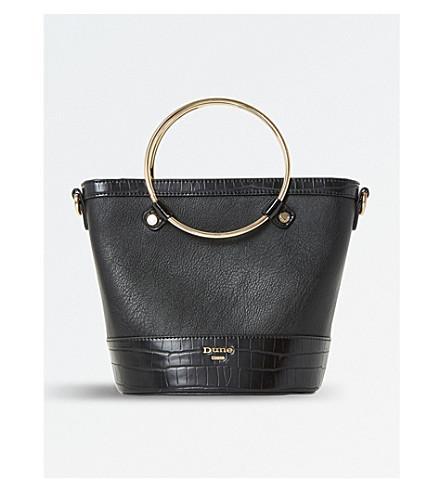 Dune Dircle Circle-handle Shopper Bag In Black-croc