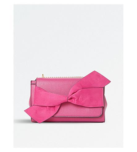 Dune Elloie Bow-detail Shoulder Bag In Pink-synthetic