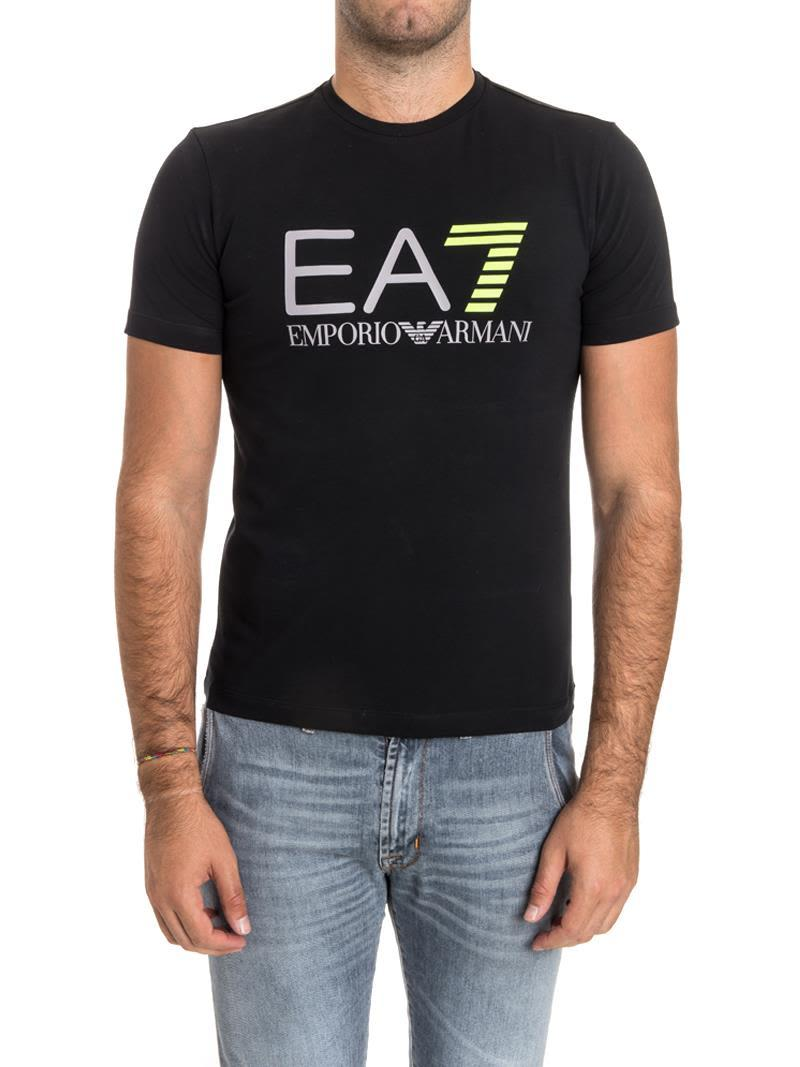 Ea7 Cotton Blend T-shirt In Black