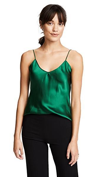 ee378a01e1dd50 Emerson Thorpe Fiora Silk Cami Top In Emerald