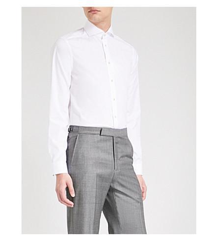 Eton Super-slim Fit Cotton-poplin Shirt In White