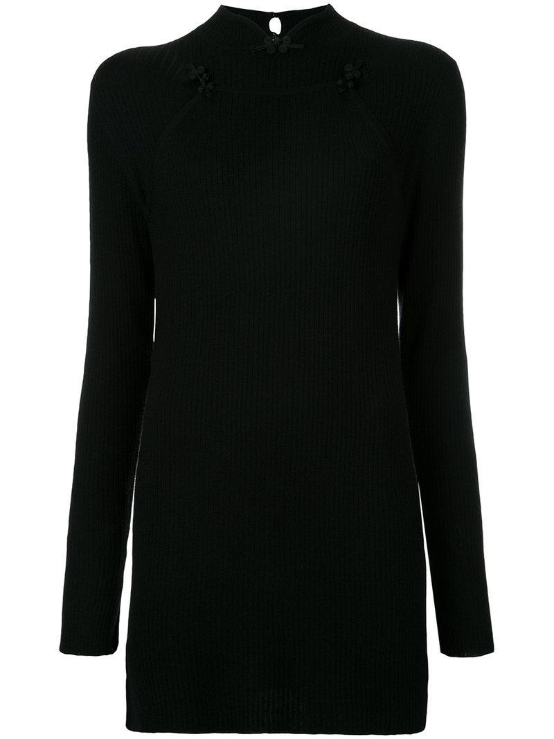 G.v.g.v. Mandarin Collar Ribbed Sweater
