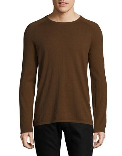 Hugo Cashmere-blend Long Sleeve Sweater-brown