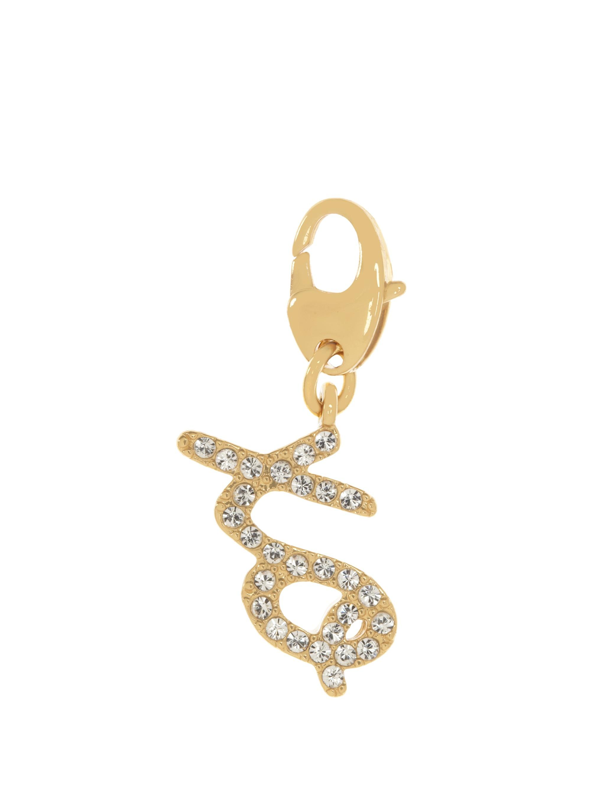Kate Spade Pave Xo Charm In Clear/gold