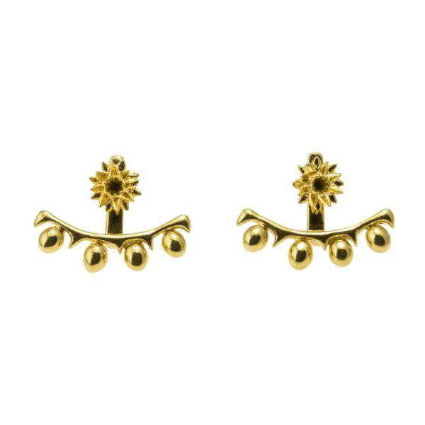 Colette Malouf Cactus Ear Jackets In Gold