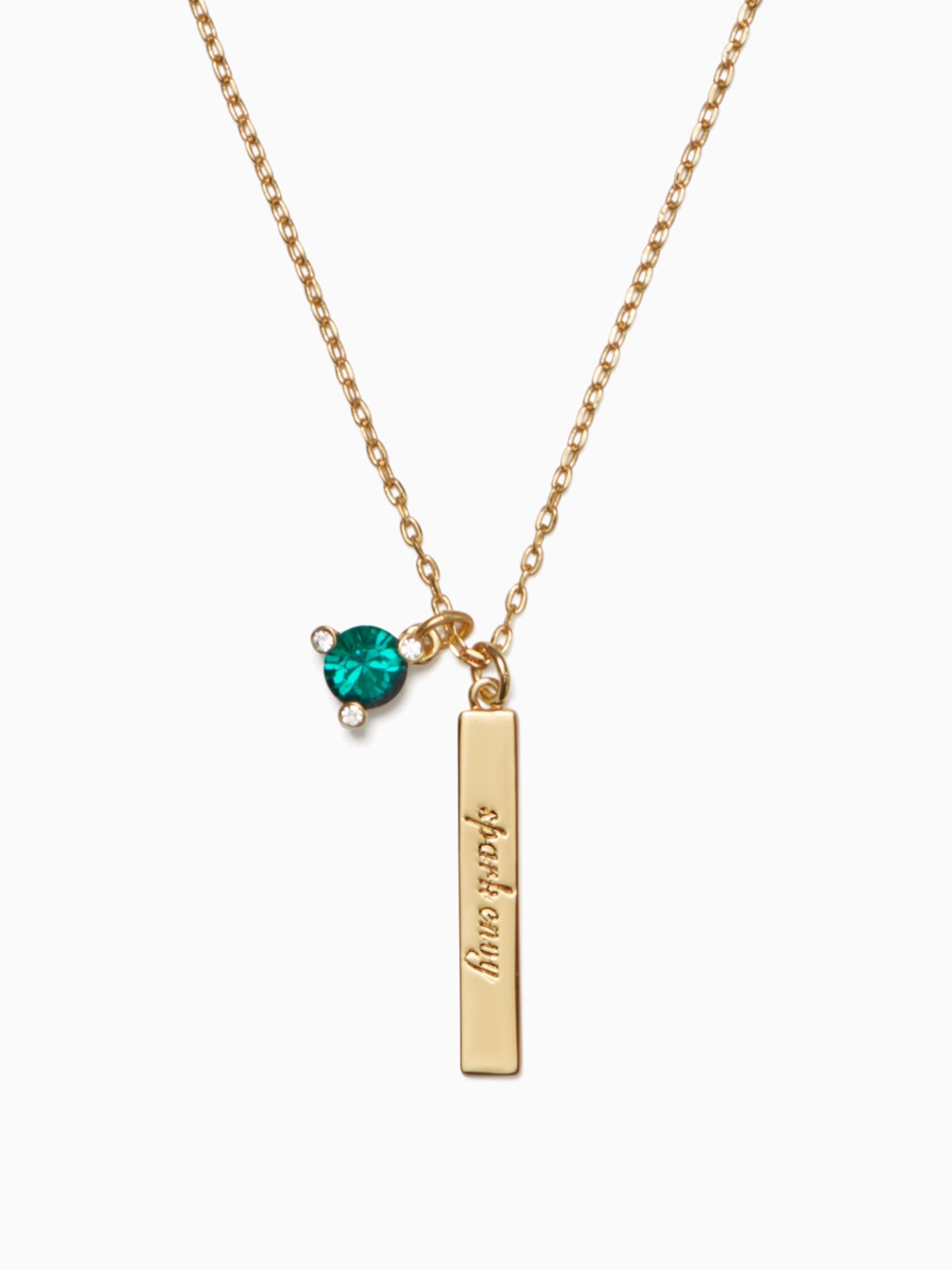 Kate Spade Born To Be May Pendant In Emerald