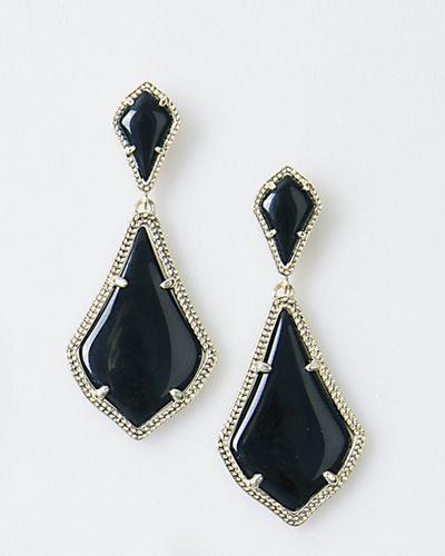 Kendra Scott Alexa Statement Earrings In Black