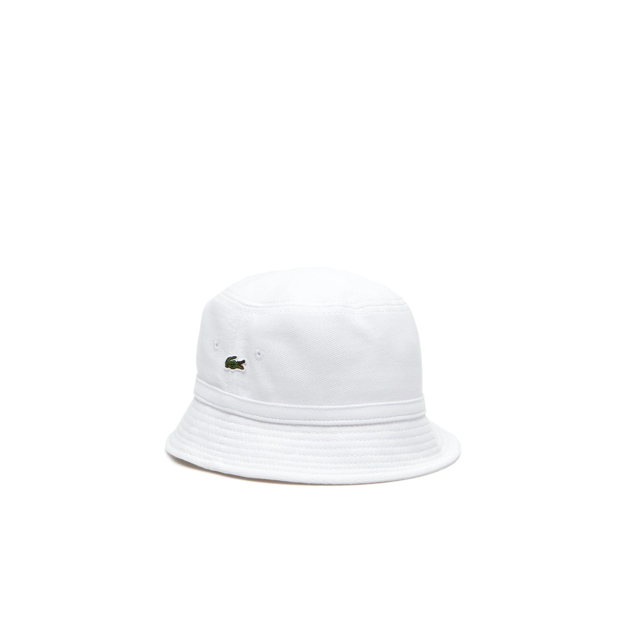 5e16b5157af09 Lacoste Men s Cotton PiquÉ Bucket Hat In White