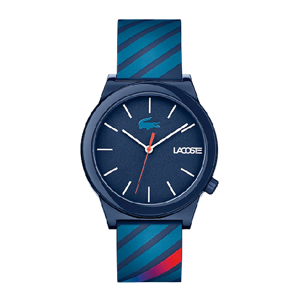 Lacoste Men's Motion Blue Silicone Strap