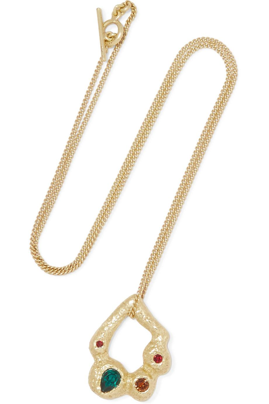Maje Gold-tone Stone Necklace