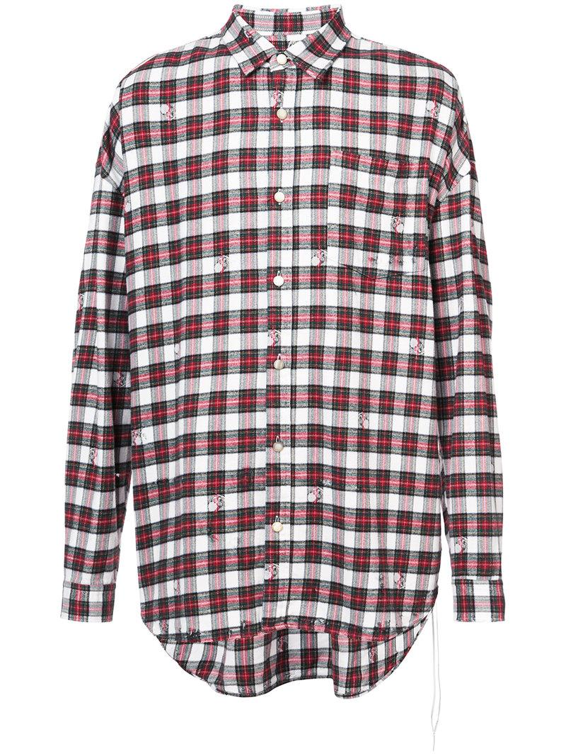 Mastermind Japan Checked Shirt - White