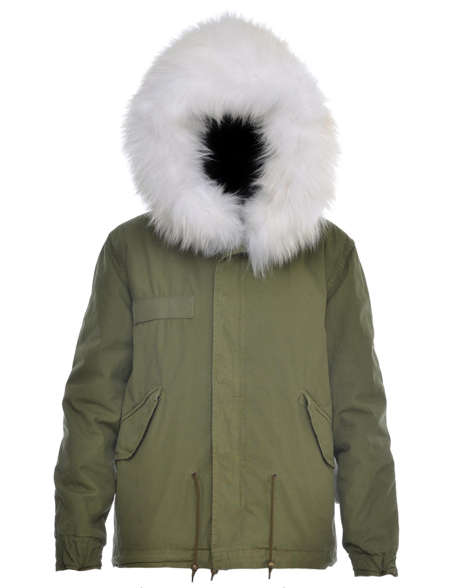 Mr & Mrs Italy Cotton Parka In White