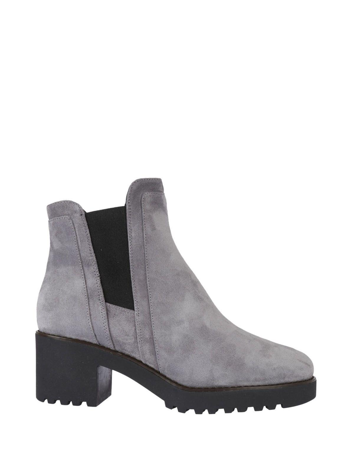 Hogan Chunky Ankle Boots In Grigio