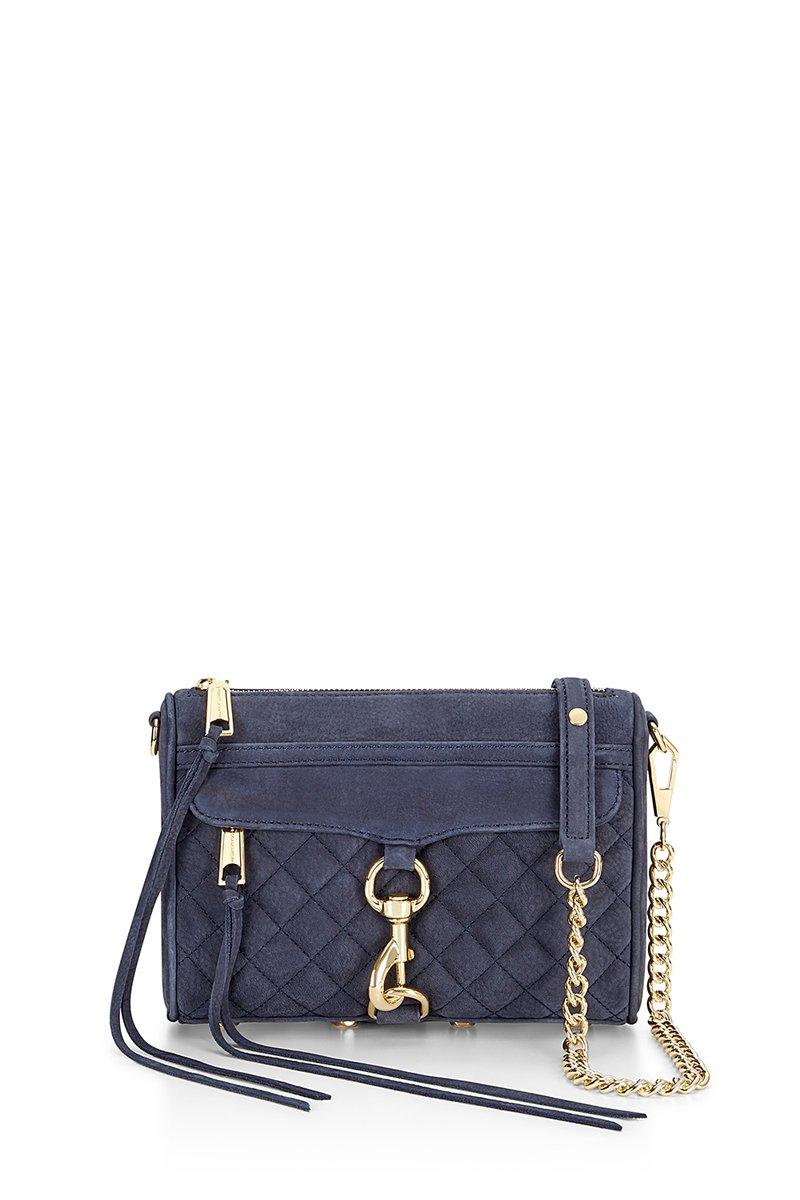 Rebecca Minkoff Quilted Mini M.a.c. Crossbody In Moon
