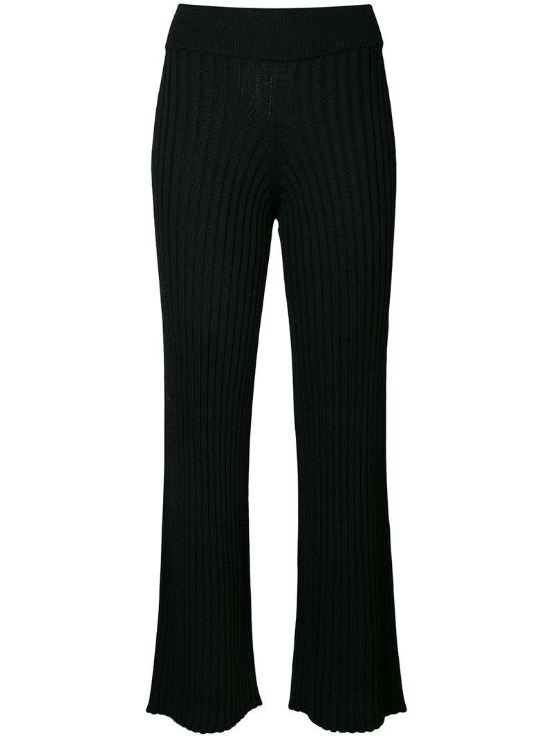Roberto Collina Flared Ribbed Trousers