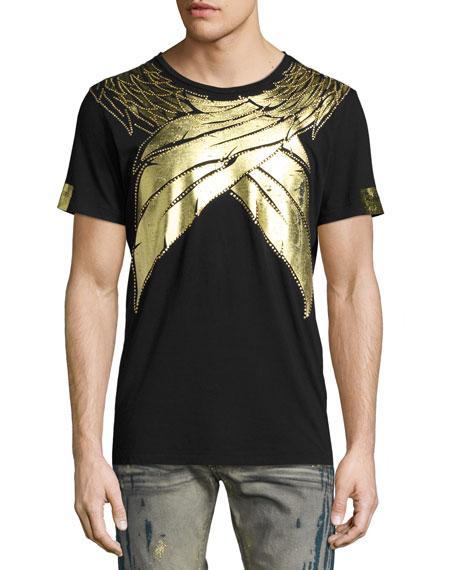 Robin's Jean Metallic Wings T-shirt, Black