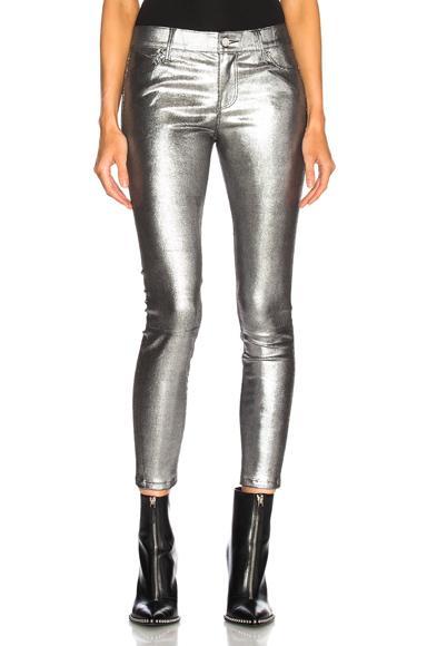 Rta Metallic Leather Jeans In Metallics