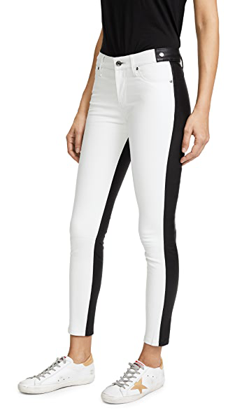 Rta White Gypsy Skinny Trousers In Outlaws