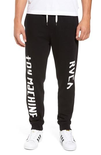 Rvca Toy Machine Jogger Pants In Black