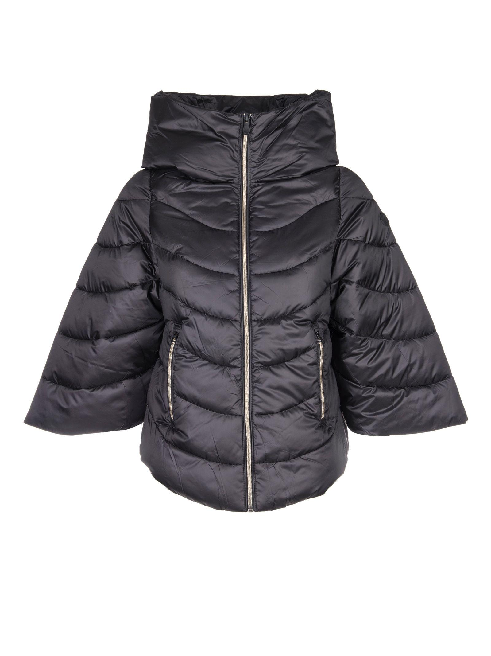 Save The Duck Cropped Sleeve Padded Jacket In Black