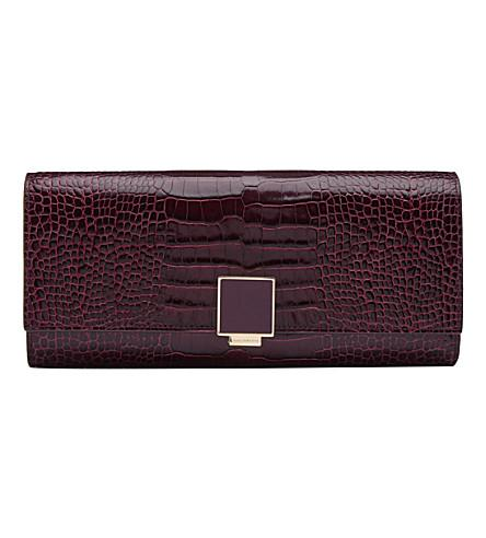 Smythson Mara Leather Large Jewellery Roll In Winter Berry