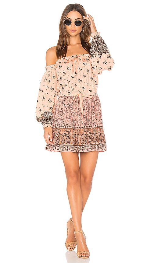 Spell & The Gypsy Collective Lionheart Off The Shoulder Mini Dress In Pink