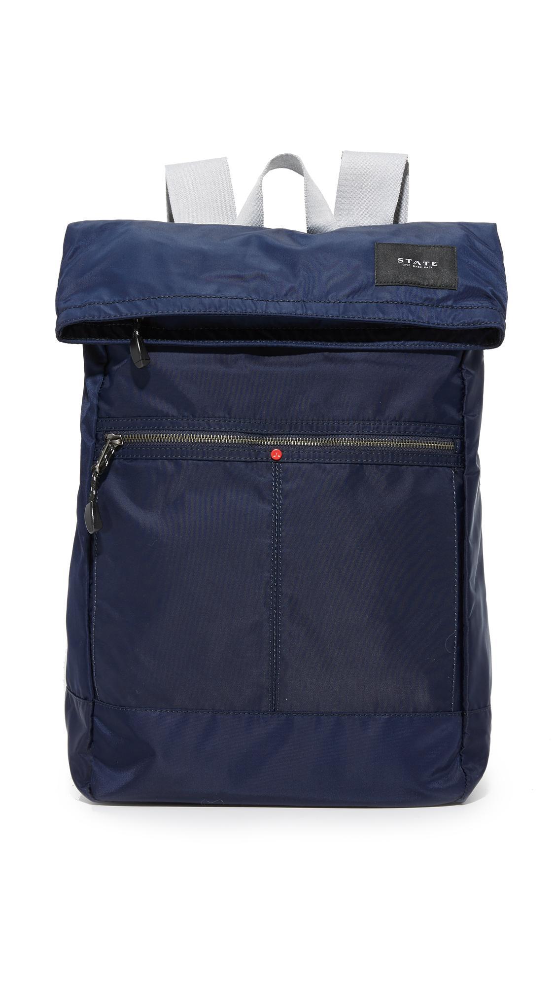 State Spencer Nylon Backpack In Navy