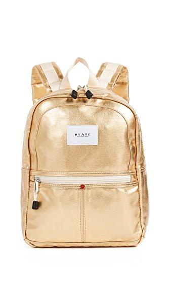 State Mini Kane Backpack In Gold