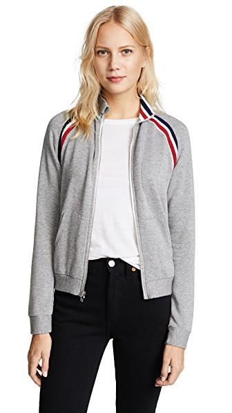 Stateside Statetrack Fleece Jacket In Heather Grey