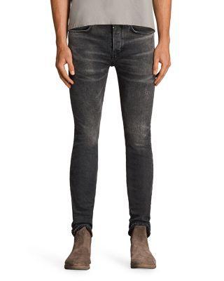 Allsaints Bishop Cigarette Super Slim Fit Jeans In Gray