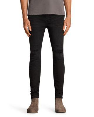 Allsaints Bixby Cigarette Slim Fit Jeans In Black