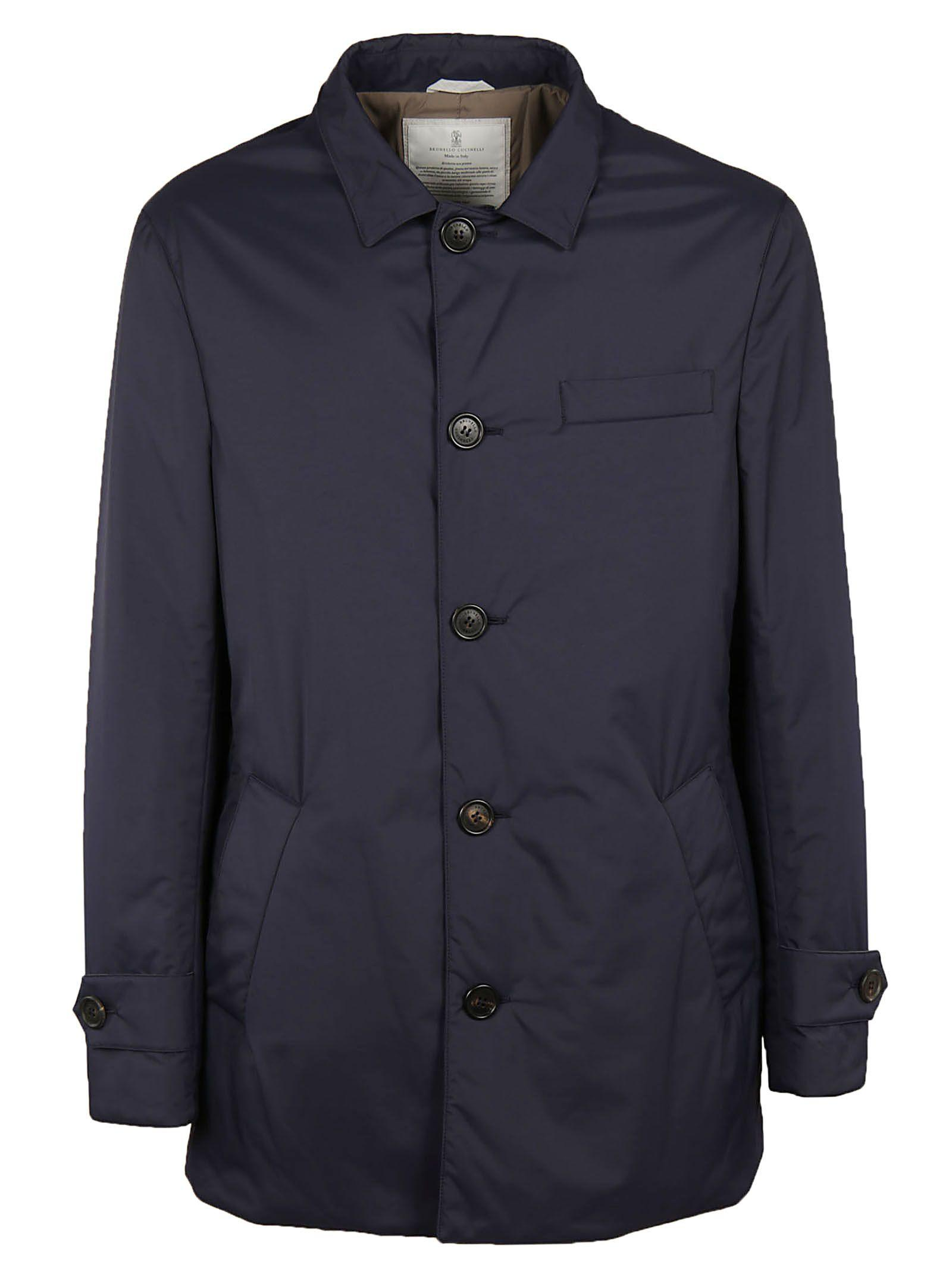 Brunello Cucinelli Classic Coat In Navy