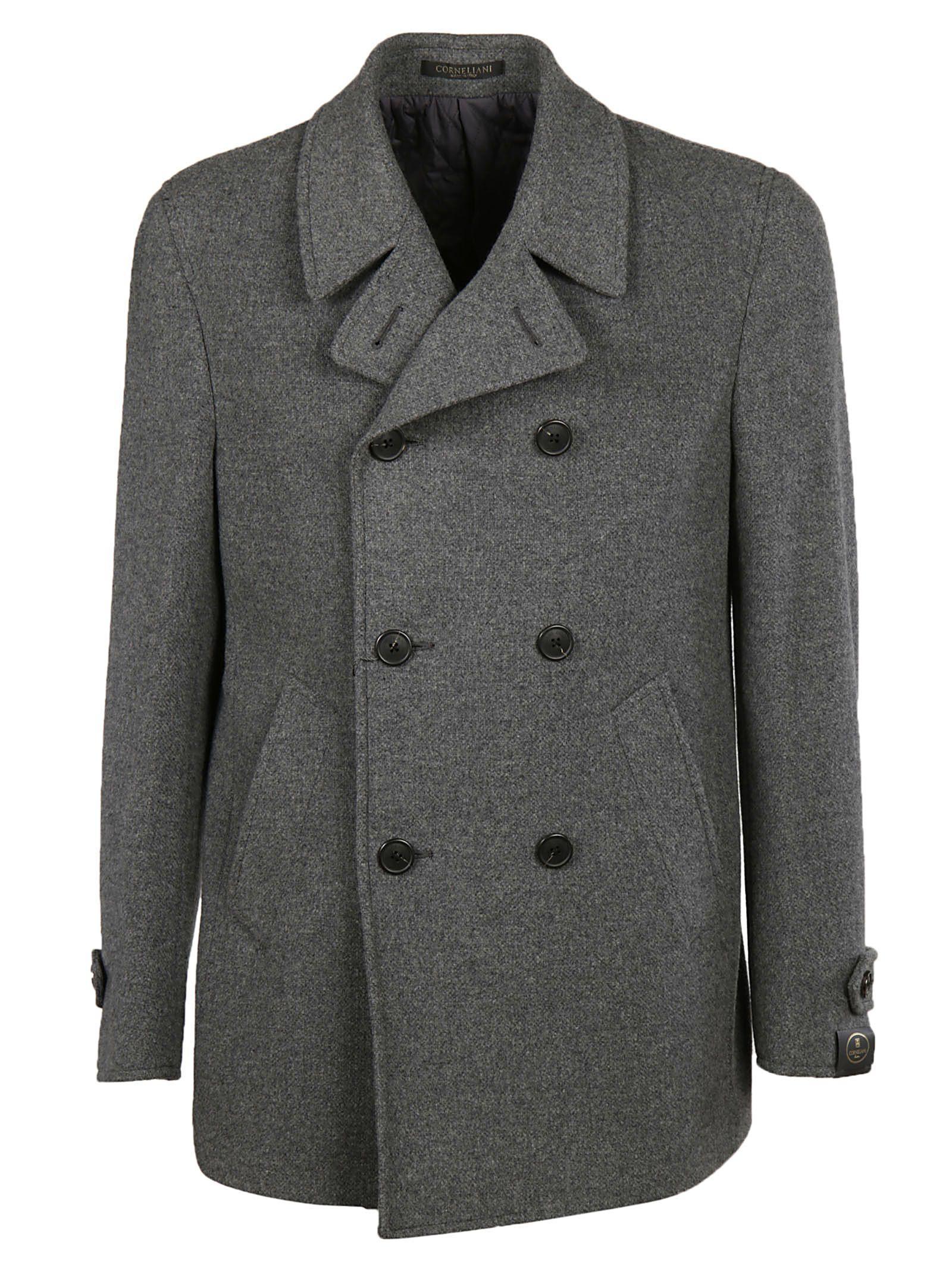 Corneliani Classic Peacoat In Grey