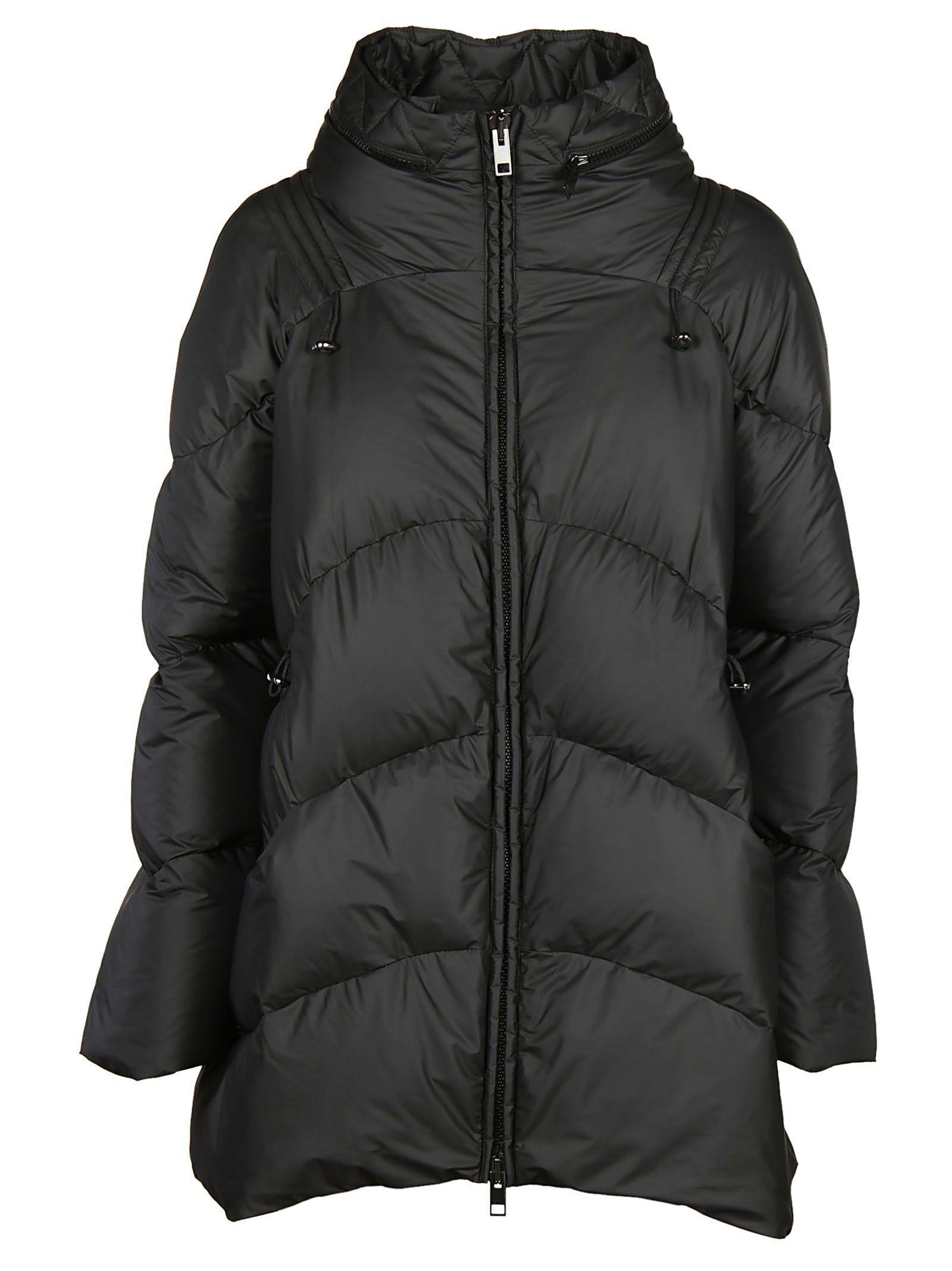 Ermanno Scervino Zip-up Padded Coat In Black