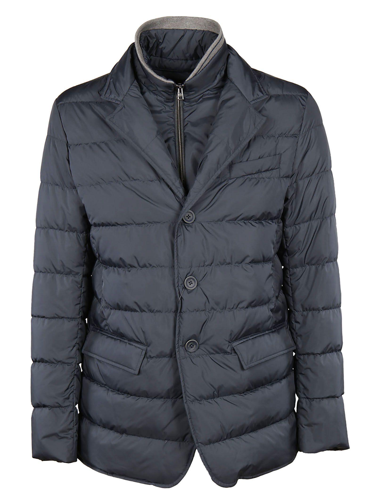 Herno Padded Blazer Jacket In Navy