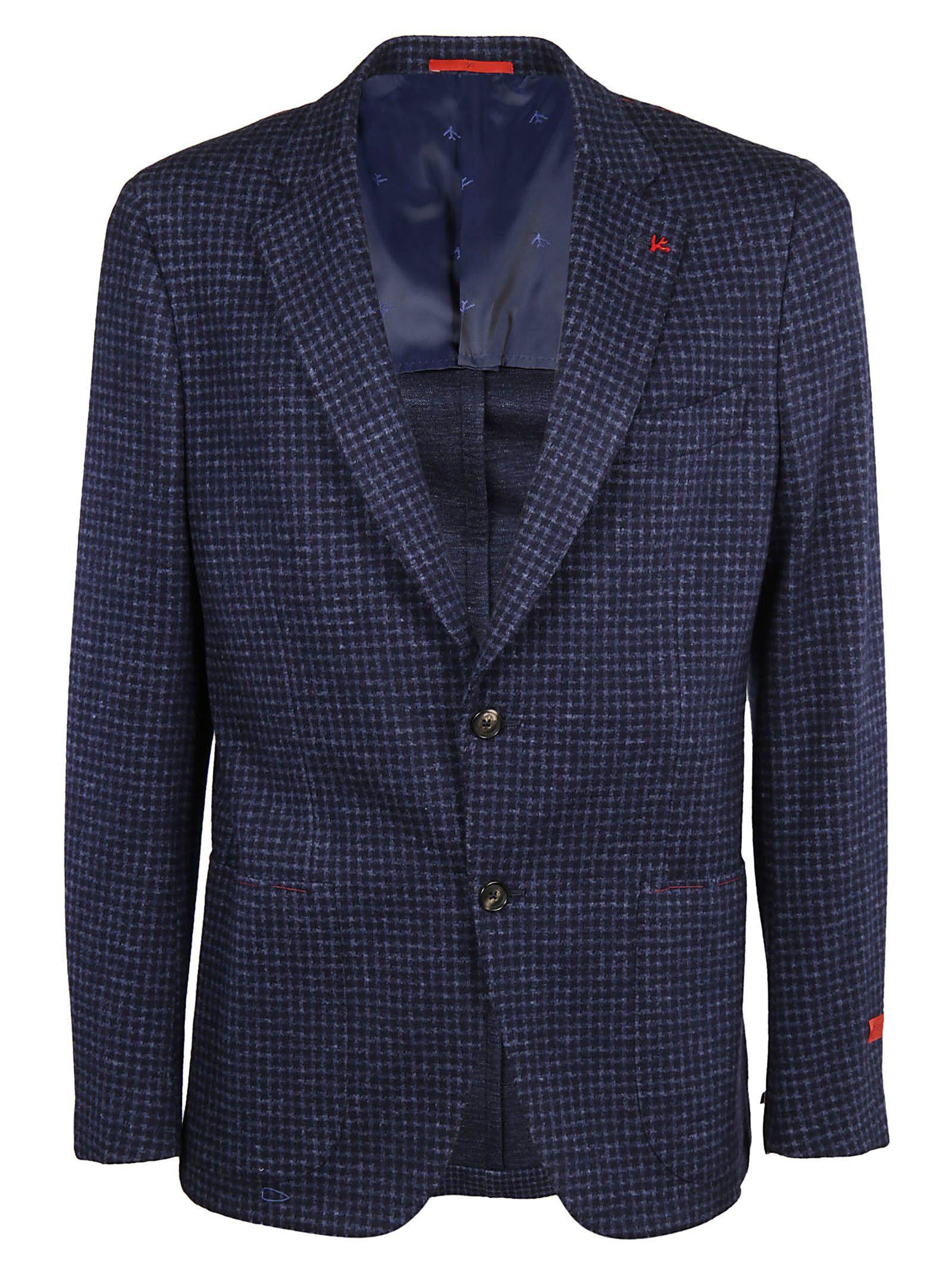 Isaia Classic Blazer In Blue