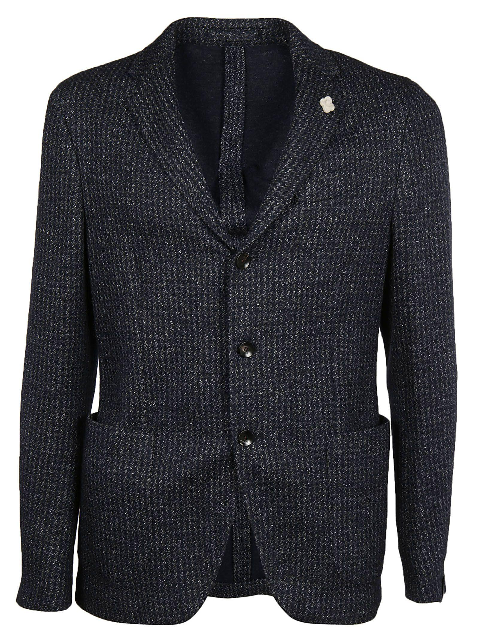 Lardini Single Breasted Blazer In Blue