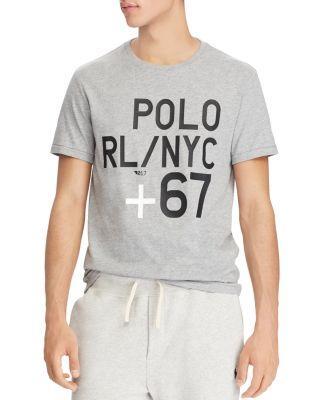 Polo Ralph Lauren Logo Slim Fit Short Sleeve Tee In Gray