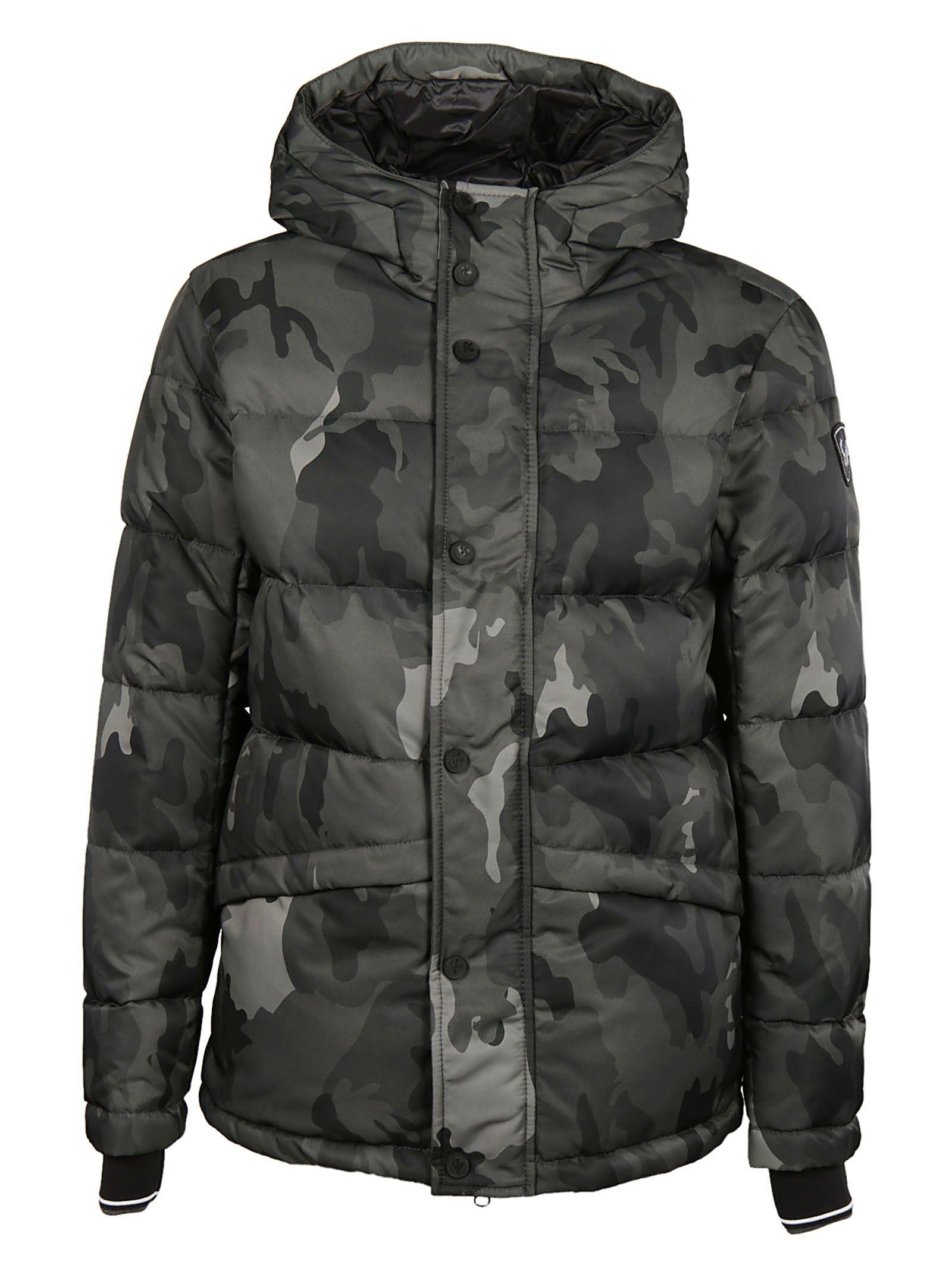 Rossignol Camouflage Print Hooded Parka In Black