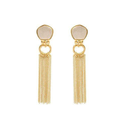 Stephanie Kantis Cleo Chain Earrings In Gold