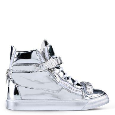 Giuseppe Zanotti Rs5083001 Sneakers In Silver
