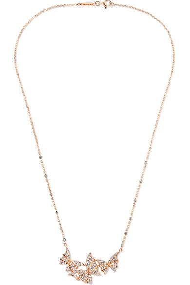 Stephen Webster Fly By Night 18-karat Rose Gold Diamond Necklace