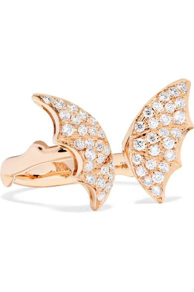 Stephen Webster Fly By Night 18-karat Rose Gold Diamond Ring